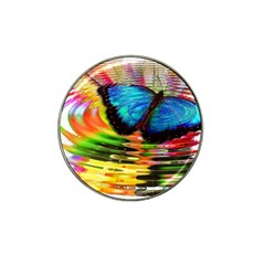Blue Morphofalter Butterfly Insect Hat Clip Ball Marker