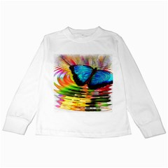 Blue Morphofalter Butterfly Insect Kids Long Sleeve T Shirts