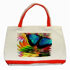 Blue Morphofalter Butterfly Insect Classic Tote Bag (red)