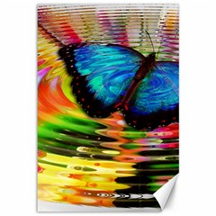 Blue Morphofalter Butterfly Insect Canvas 12  X 18