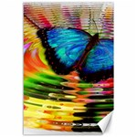 Blue Morphofalter Butterfly Insect Canvas 12  x 18   18 x12 Canvas - 1