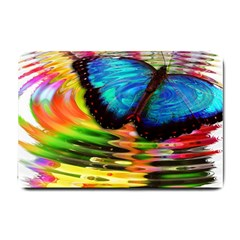 Blue Morphofalter Butterfly Insect Small Doormat