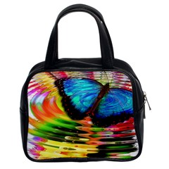 Blue Morphofalter Butterfly Insect Classic Handbags (2 Sides)