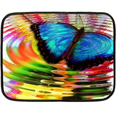 Blue Morphofalter Butterfly Insect Fleece Blanket (mini)