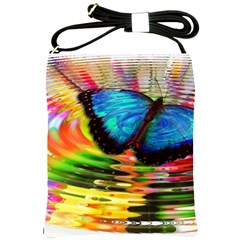 Blue Morphofalter Butterfly Insect Shoulder Sling Bags