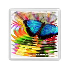 Blue Morphofalter Butterfly Insect Memory Card Reader (square)