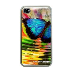 Blue Morphofalter Butterfly Insect Apple Iphone 4 Case (clear)