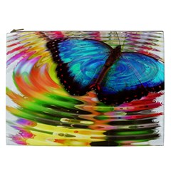 Blue Morphofalter Butterfly Insect Cosmetic Bag (xxl)