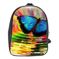 Blue Morphofalter Butterfly Insect School Bag (xl)