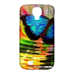 Blue Morphofalter Butterfly Insect Samsung Galaxy S4 Classic Hardshell Case (pc+silicone)