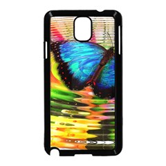 Blue Morphofalter Butterfly Insect Samsung Galaxy Note 3 Neo Hardshell Case (black)