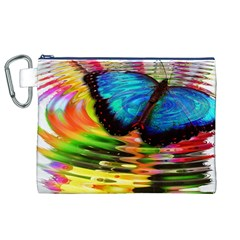 Blue Morphofalter Butterfly Insect Canvas Cosmetic Bag (xl)