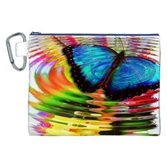 Blue Morphofalter Butterfly Insect Canvas Cosmetic Bag (xxl)