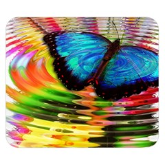 Blue Morphofalter Butterfly Insect Double Sided Flano Blanket (small)