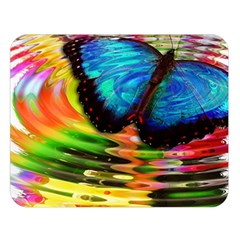 Blue Morphofalter Butterfly Insect Double Sided Flano Blanket (large)
