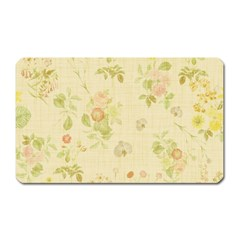 Floral Wallpaper Flowers Vintage Magnet (rectangular)