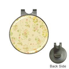 Floral Wallpaper Flowers Vintage Hat Clips With Golf Markers