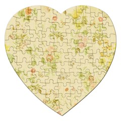Floral Wallpaper Flowers Vintage Jigsaw Puzzle (heart)