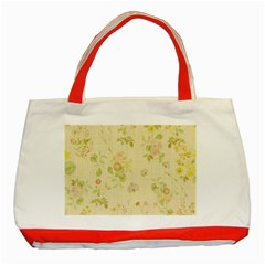Floral Wallpaper Flowers Vintage Classic Tote Bag (red)