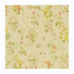 Floral Wallpaper Flowers Vintage Medium Glasses Cloth (2 Side)