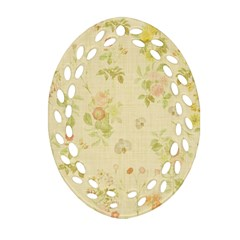 Floral Wallpaper Flowers Vintage Oval Filigree Ornament (two Sides)