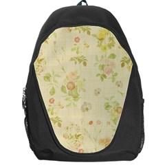 Floral Wallpaper Flowers Vintage Backpack Bag