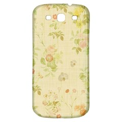 Floral Wallpaper Flowers Vintage Samsung Galaxy S3 S Iii Classic Hardshell Back Case