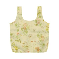 Floral Wallpaper Flowers Vintage Full Print Recycle Bags (m)