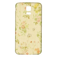 Floral Wallpaper Flowers Vintage Samsung Galaxy S5 Back Case (white)