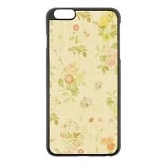 Floral Wallpaper Flowers Vintage Apple Iphone 6 Plus/6s Plus Black Enamel Case