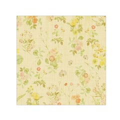 Floral Wallpaper Flowers Vintage Small Satin Scarf (square)