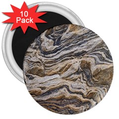 Texture Marble Abstract Pattern 3  Magnets (10 Pack)