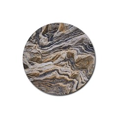 Texture Marble Abstract Pattern Rubber Round Coaster (4 Pack)