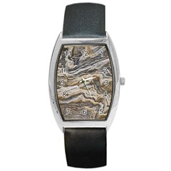 Texture Marble Abstract Pattern Barrel Style Metal Watch