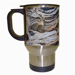 Texture Marble Abstract Pattern Travel Mugs (white)