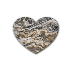 Texture Marble Abstract Pattern Heart Coaster (4 Pack)