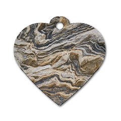 Texture Marble Abstract Pattern Dog Tag Heart (one Side)