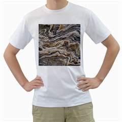 Texture Marble Abstract Pattern Men s T Shirt (white)