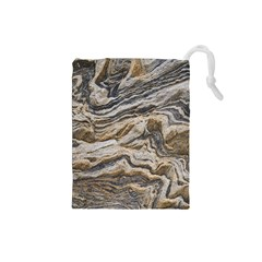 Texture Marble Abstract Pattern Drawstring Pouches (small)
