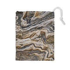 Texture Marble Abstract Pattern Drawstring Pouches (large)