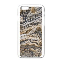Texture Marble Abstract Pattern Apple Iphone 6/6s White Enamel Case