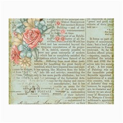Vintage Floral Background Paper Small Glasses Cloth (2 Side)