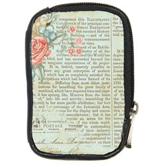 Vintage Floral Background Paper Compact Camera Cases