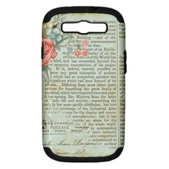 Vintage Floral Background Paper Samsung Galaxy S Iii Hardshell Case (pc+silicone)