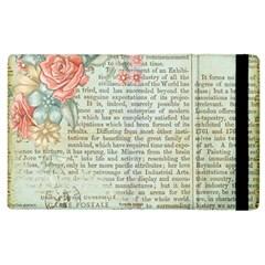 Vintage Floral Background Paper Apple Ipad 2 Flip Case