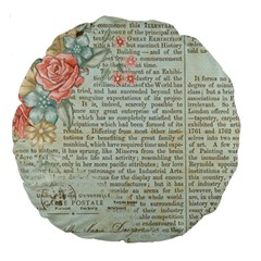 Vintage Floral Background Paper Large 18  Premium Round Cushions