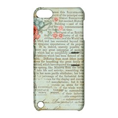 Vintage Floral Background Paper Apple Ipod Touch 5 Hardshell Case With Stand