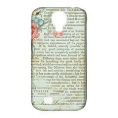 Vintage Floral Background Paper Samsung Galaxy S4 Classic Hardshell Case (pc+silicone)