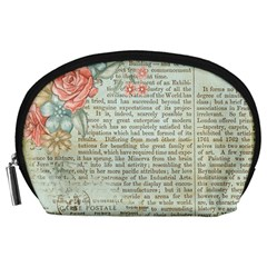 Vintage Floral Background Paper Accessory Pouches (large)