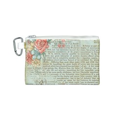 Vintage Floral Background Paper Canvas Cosmetic Bag (s)
